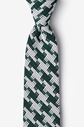Green Cotton Buckeye Thick Extra Long Tie