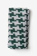 Green Cotton Buckeye Thick Pocket Square
