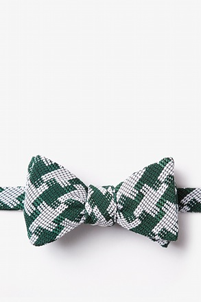 _Buckeye Thick Green Self-Tie Bow Tie_