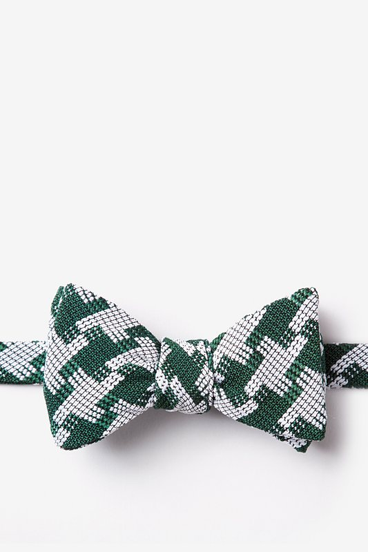 Buckeye Thick Green Self-Tie Bow Tie Photo (0)