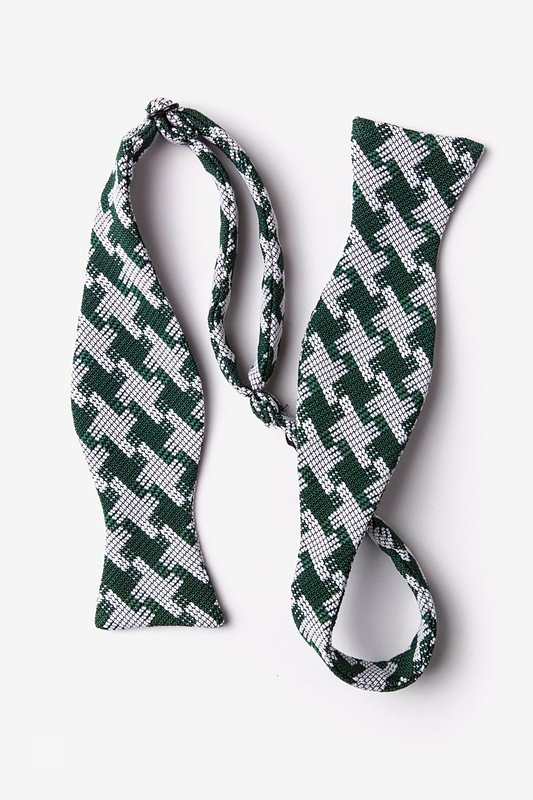 Buckeye Thick Green Self-Tie Bow Tie Photo (1)