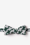 Green Cotton Buckeye Thick Skinny Bow Tie