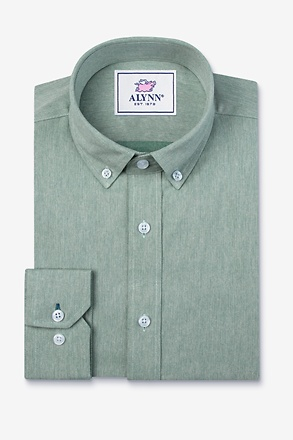 _Caden Green Slim Fit Casual Shirt_