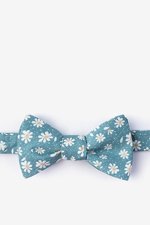 Canton Green Self-Tie Bow Tie