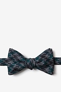 Green Cotton Chandler Butterfly Bow Tie
