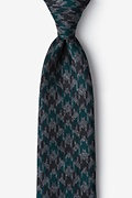 Green Cotton Chandler Extra Long Tie