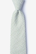 Green Cotton Clyde Extra Long Tie