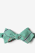 Green Cotton Douglas Diamond Tip Bow Tie