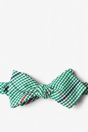 _Douglas Green Diamond Tip Bow Tie_