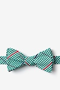 Green Cotton Douglas Self-Tie Bow Tie