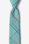 Green Cotton Douglas Skinny Tie