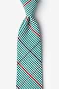 Green Cotton Douglas Tie