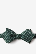 Green Cotton Glendale Diamond Tip Bow Tie