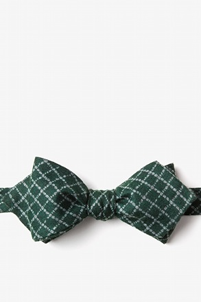 Glendale Green Diamond Tip Bow Tie