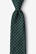 Green Cotton Glendale Extra Long Tie