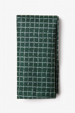 _Glendale Green Pocket Square_