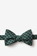 Green Cotton Glendale Self-Tie Bow Tie
