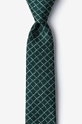 Green Cotton Glendale Skinny Tie