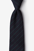 Green Cotton Glenn Heights Extra Long Tie