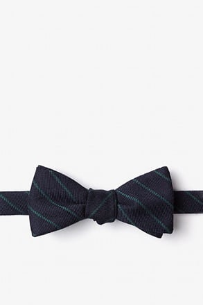Glenn Heights Green Skinny Bow Tie