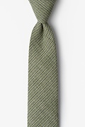 Green Cotton Green Andrew Plaid Skinny Tie