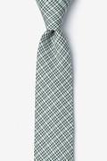 Green Cotton Green Animator Skinny Tie
