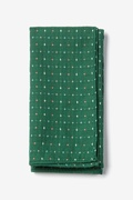 Green Cotton Green Pennington Dash Pocket Square