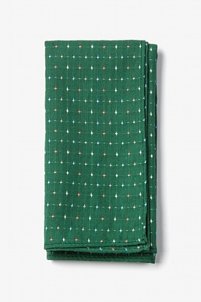 Green Pennington Dash Pocket Square