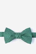 Green Cotton Gregory Self-Tie Bow Tie