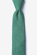 Green Cotton Gregory Skinny Tie