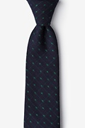 Green Cotton Gresham Extra Long Tie