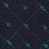 Green Cotton Gresham Skinny Tie