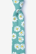 Green Cotton Hinton Skinny Tie