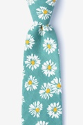 Green Cotton Hinton Tie