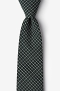 Green Cotton Holbrook Extra Long Tie