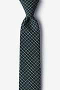 Green Cotton Holbrook Skinny Tie