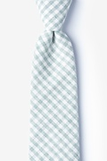 Green Cotton Huron Extra Long Tie