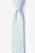 Green Cotton Huron Skinny Tie