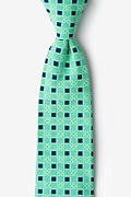 Green Cotton Jamaica Extra Long Tie