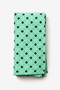 Green Cotton Jamaica Pocket Square