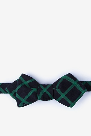 _Joaquin Green Diamond Tip Bow Tie_