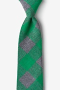 Green Cotton Kent Extra Long Tie