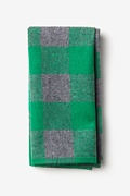 Green Cotton Kent Pocket Square