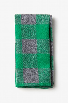Kent Green Pocket Square