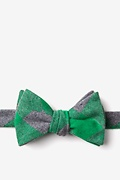 Green Cotton Kent Self-Tie Bow Tie