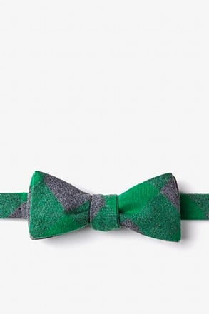 Kent Green Skinny Bow Tie