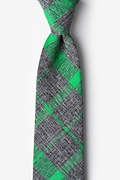 Green Cotton Kirkland Extra Long Tie