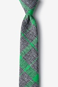 Green Cotton Kirkland Skinny Tie