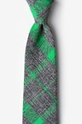 Green Cotton Kirkland Tie