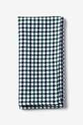 Green Cotton Markson Checks Pocket Square